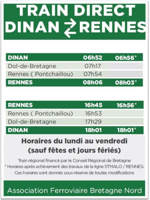 Horaires TER